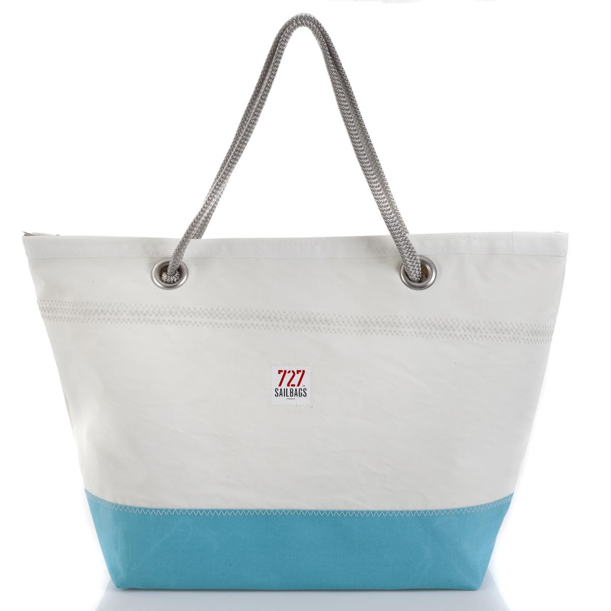 CARLA Tasche Light Blue No 3 grey Rückseite
