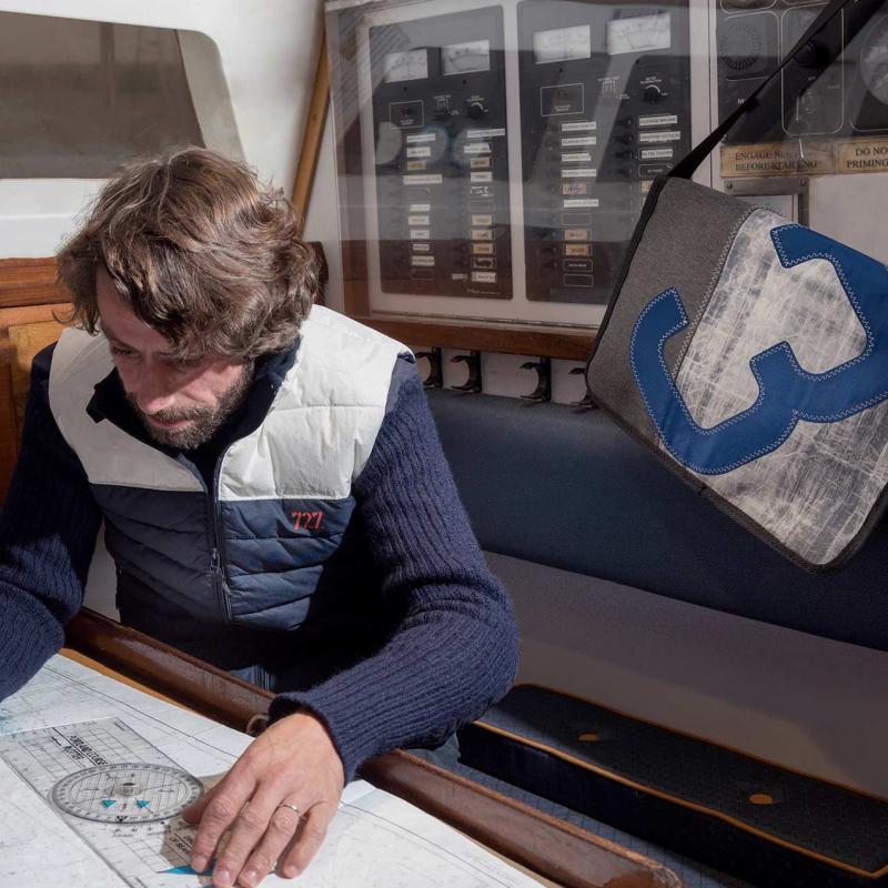 Harry Schultertasche Tech-Sail 15´´ grau, Nr. 3 blau