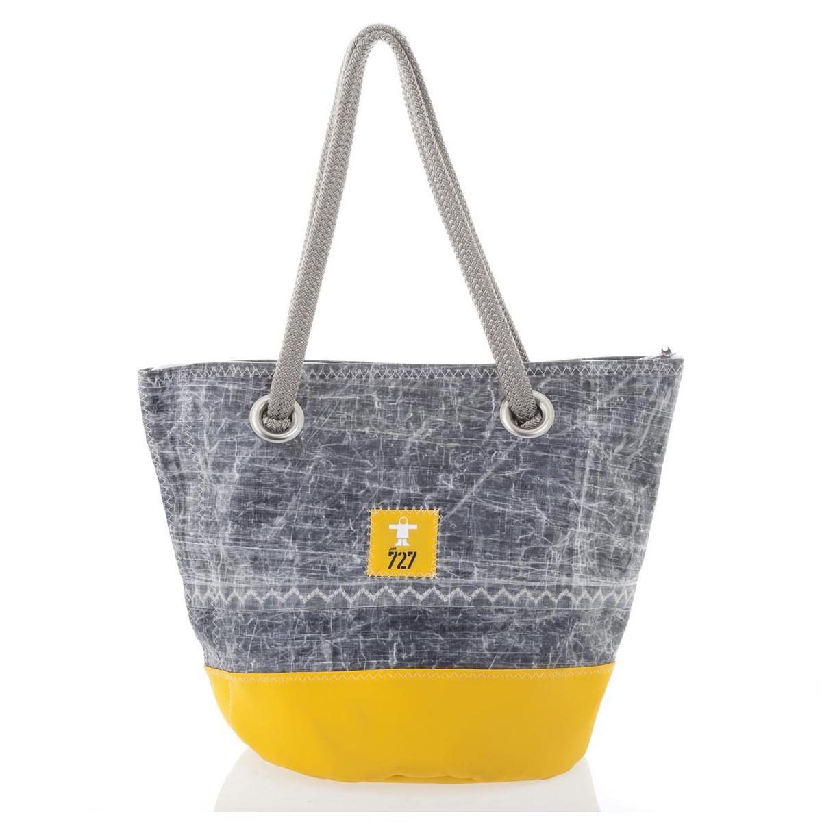 Sandy Tasche Guy Cotten - Tech  gelb mit Nr 5 grau Rückseite