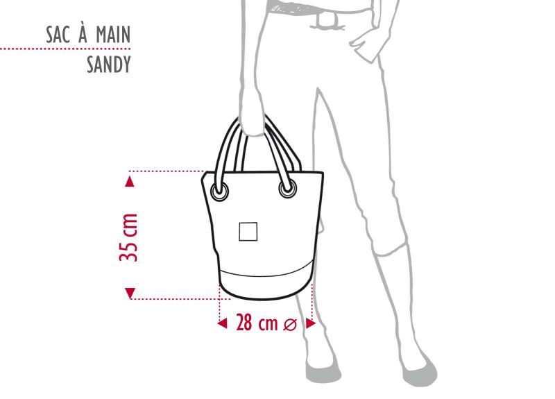Proportionen der Sandy Tasche