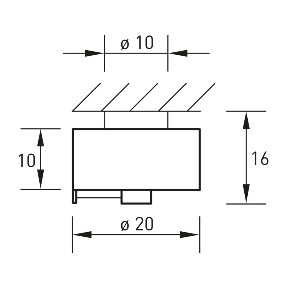 Technische Zeichnung SHINING Wandleuchte / Deckenleuchte