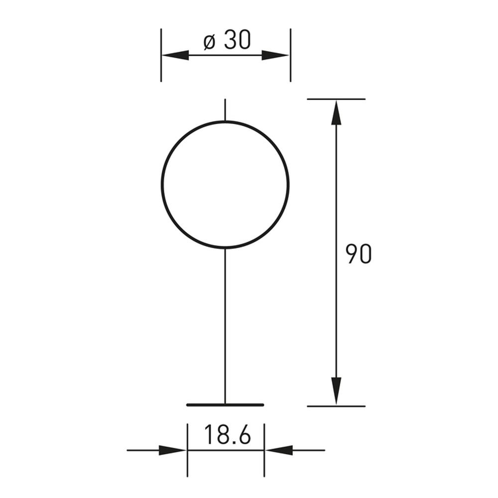 Technische Zeichnung GLOBUS Stehleuchte 90 cm