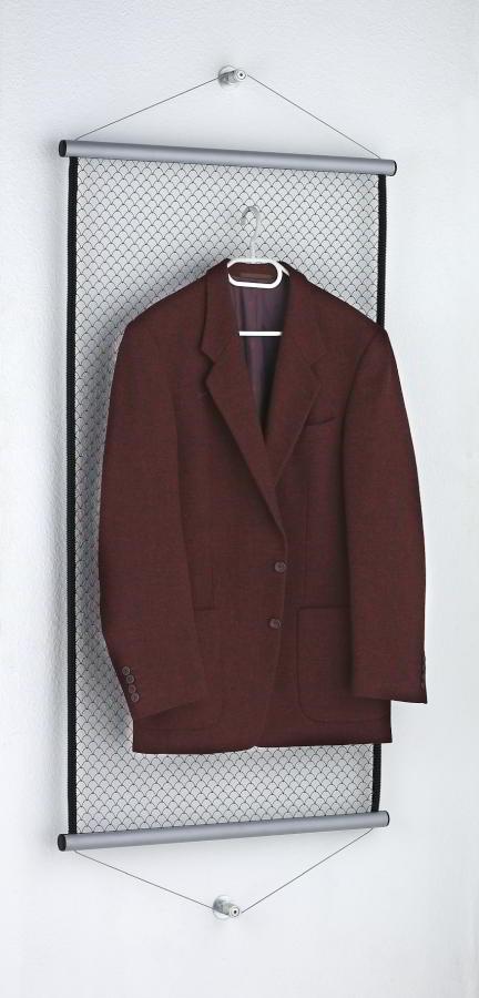 Spirali Classic Wandgarderobe basicline metallic mit Bügel und Jacke