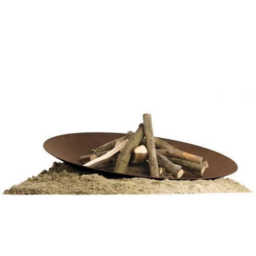 DISCOLO Feuerstelle Ø 120 cm, Stahl natur