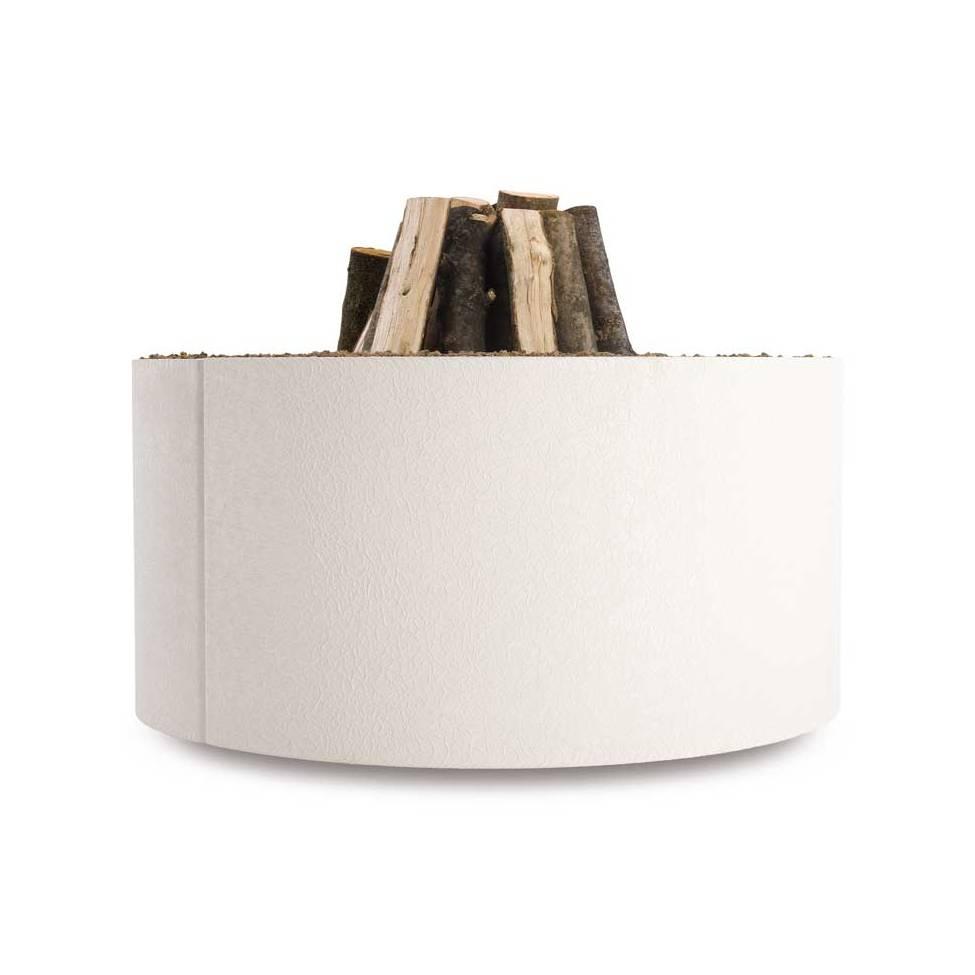 MANGIAFUOCO Feuerstelle Ø 80 cm Stahl weiß