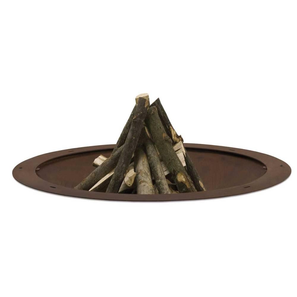 HOLE Feuerstelle Ø 135 cm Stahl natur