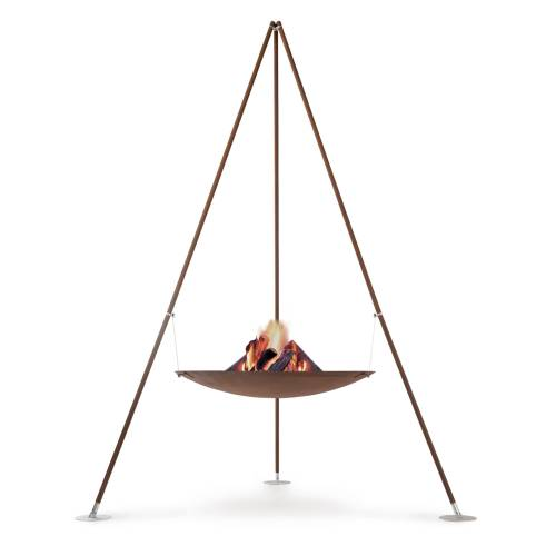TRIPEE Feuerstelle 298 cm, mit Feuerholz