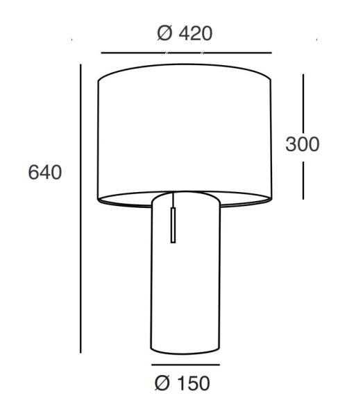 ARTIS-44 Tischleuchte, die genaue Vermassung