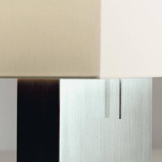 KYOTO CASE Tischleuchte mit massivem Edelstahl-Fuß