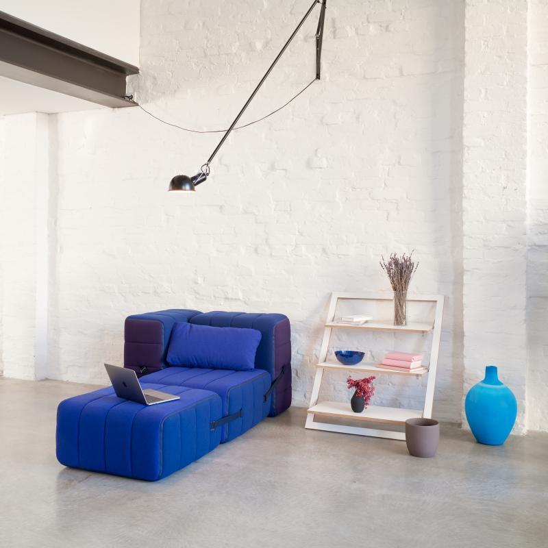 CURT Sofa-System Sessel aus 4 Elementen, hier 2 Sitzflächen, 1 Rückenlehne und eine seitliche Lehne
