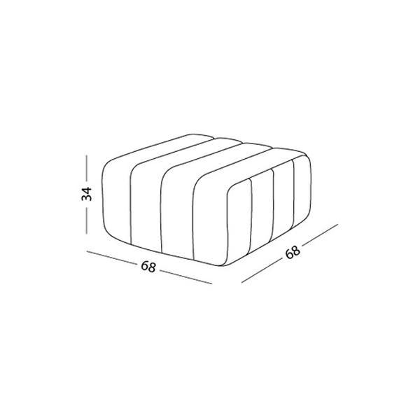 CURT Sofa-System, die Dimension des einzelnen Elementes