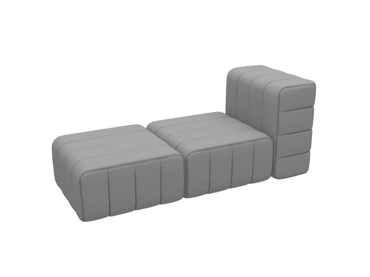 CURT Sofa-System Sessel 3 Elemente Bezug nach Wunsch