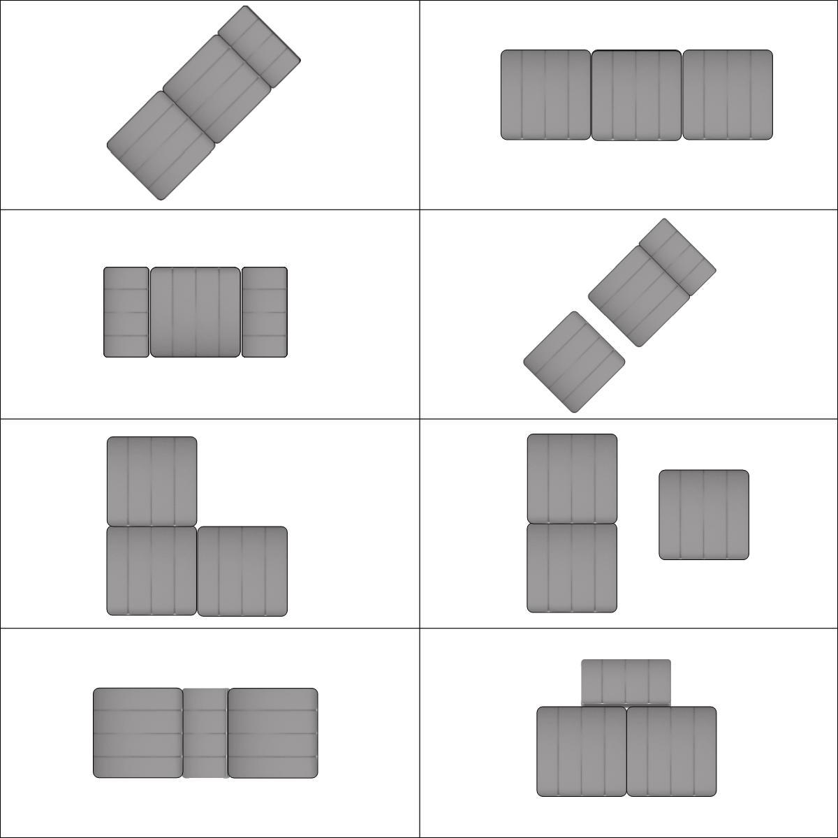 Variationen mit 3 Curt Modulen