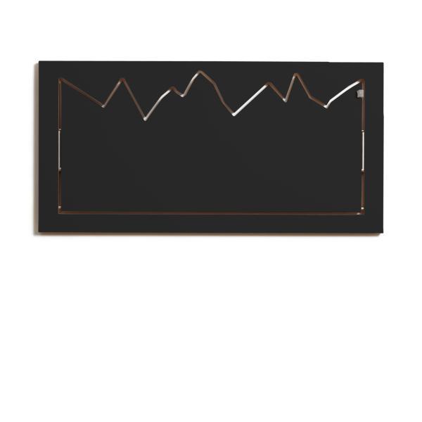 FLÄPPS Wandgarderobe HILLHÄNG 80x40 cm, schwarz