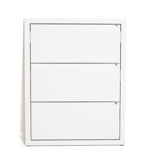 FLÄPPS Lehnregal 100x80x3 weiß lackiert
