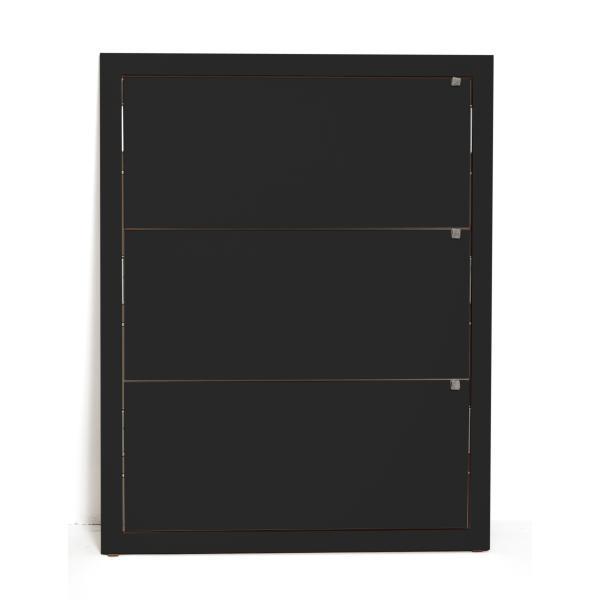 FLÄPPS Lehnregal 100x80x3 schwarz lackiert