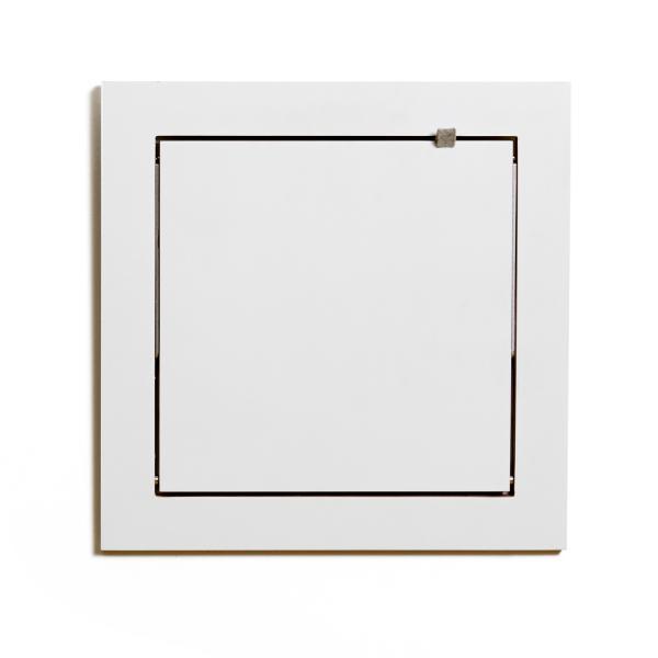 FLÄPPS Wandregal 40x40x1 weiß lackiert