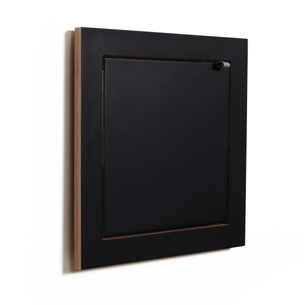 FLÄPPS Wandregal 40x40x1 schwarz lackiert