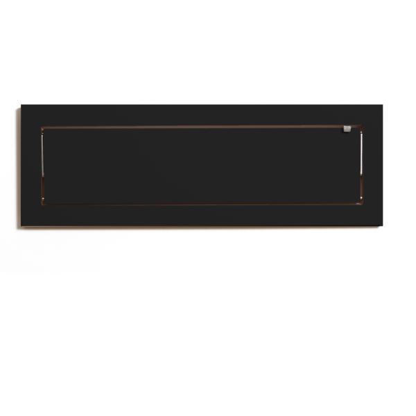 Wandregal 80x27x1 schwarz lackiert zugeklappt