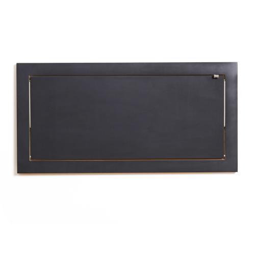 Wandregal 80x40x1 schwarz lackiert zugeklappt