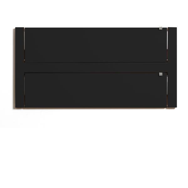 Wandregal 80x40x2 schwarz lackiert zugeklappt