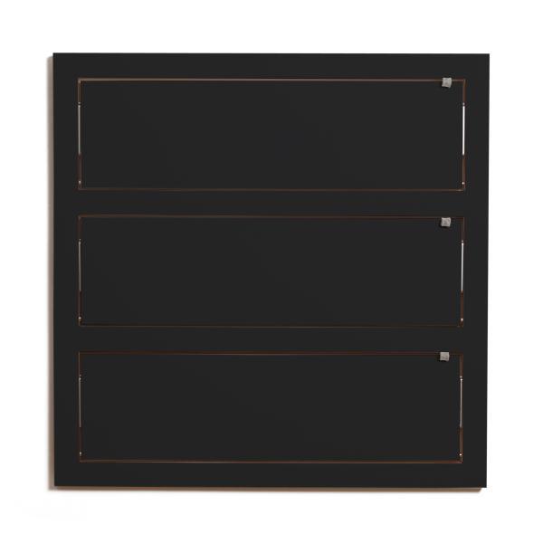 FLÄPPS Wandregal 80x80x3 schwarz lackiert zugeklappt