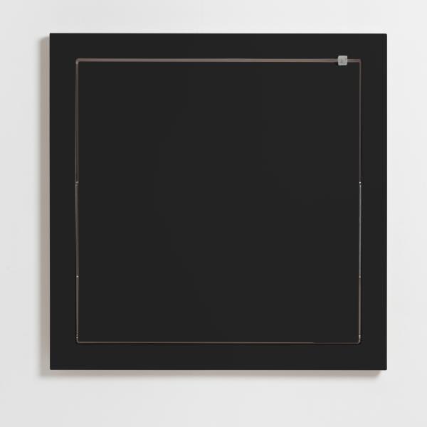 FLÄPPS Küchentisch, schwarz, geschlossen