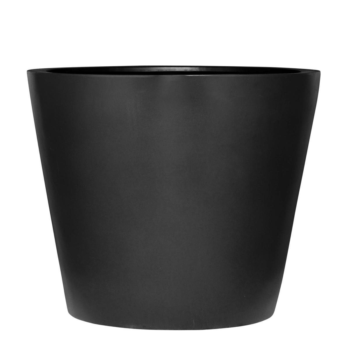 STONEFIBER der Runde Pflanzgefäß 80 cm schwarz