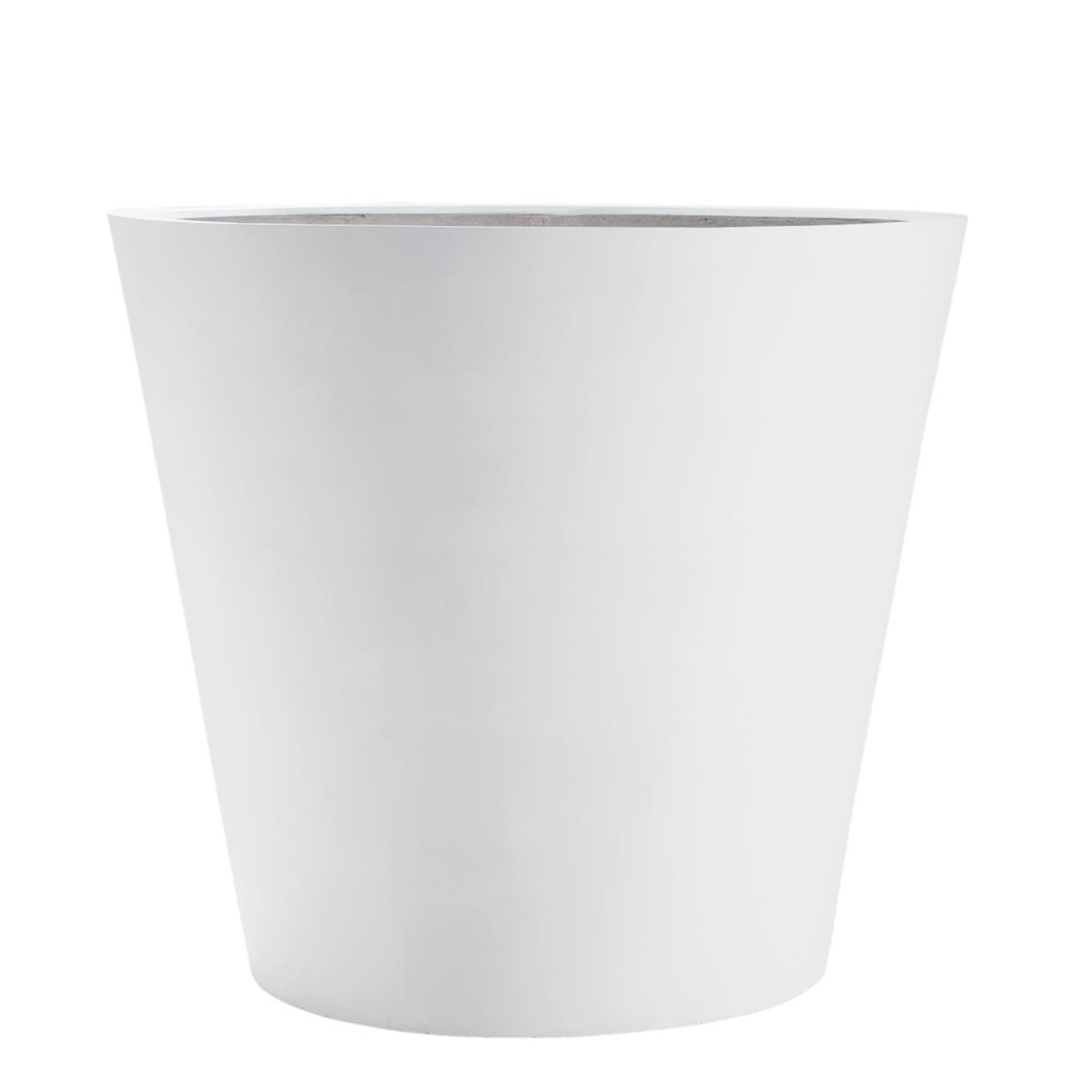 STONEFIBER der Runde Pflanzgefäß 80 cm weiß