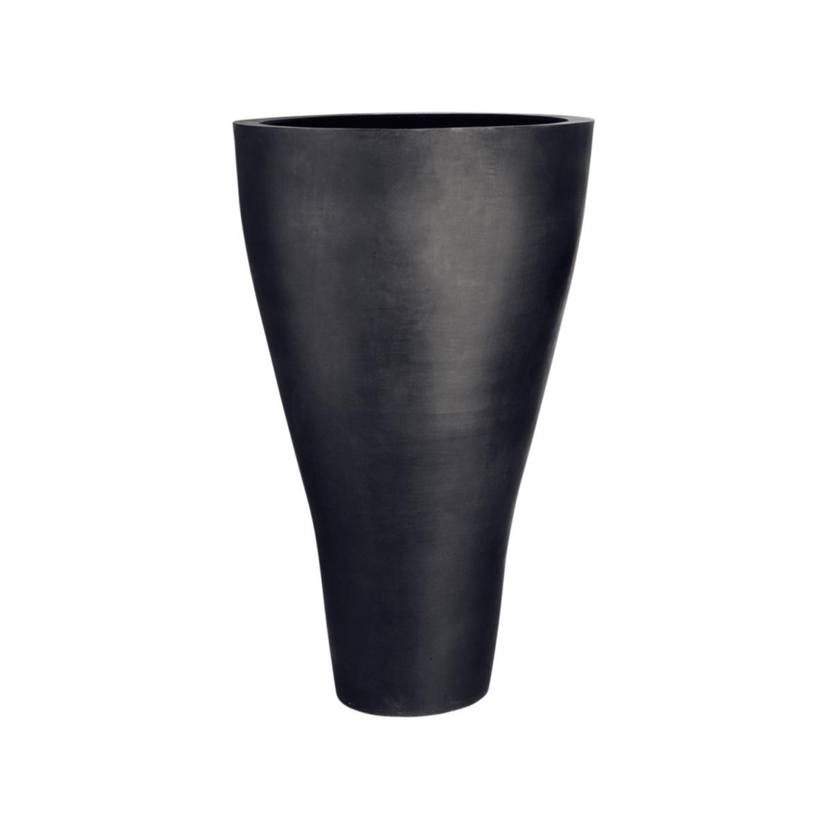 Stonefiber Pflanzgefäß der Konische schwarz