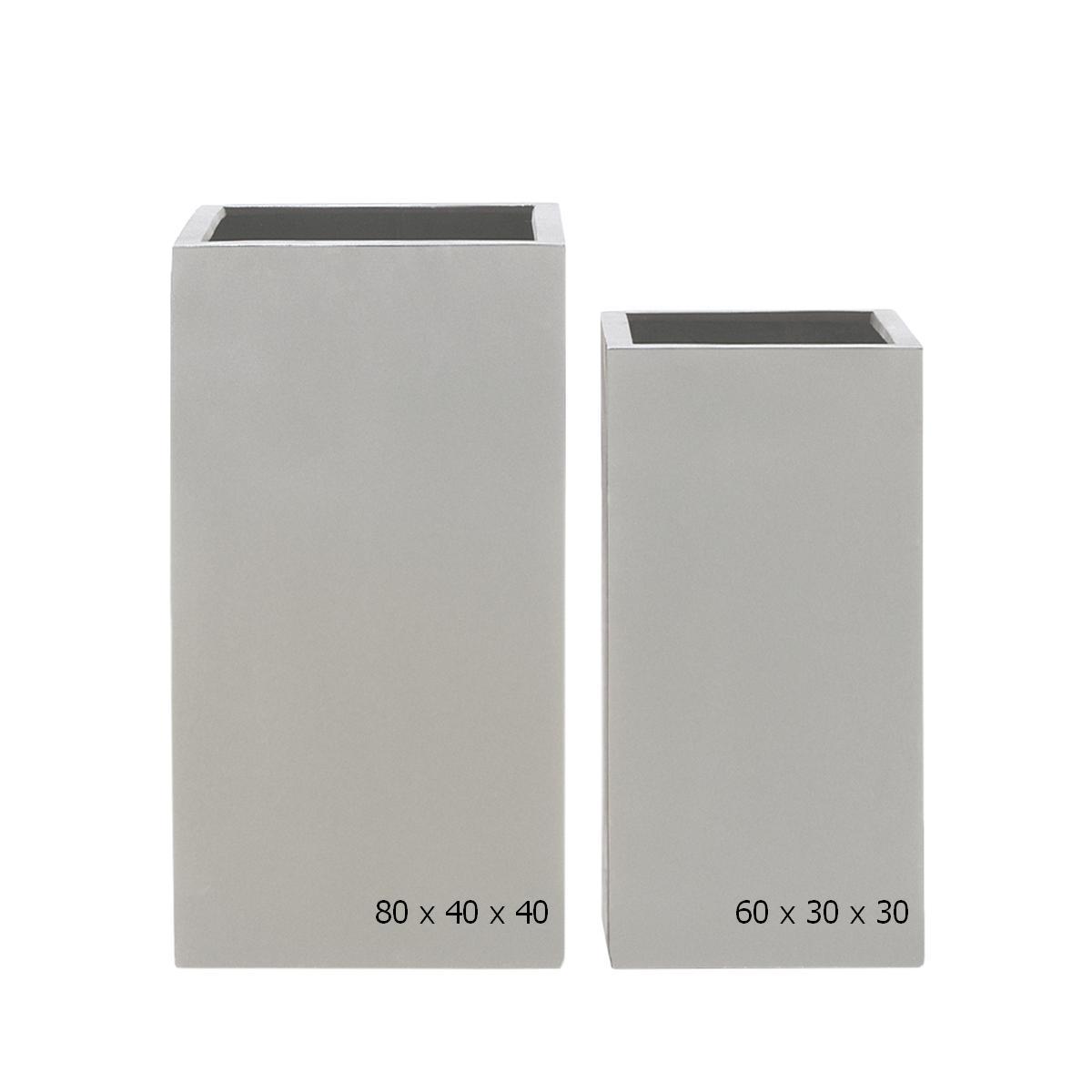 STONEFIBER der hohe Quadratische Pflanzsäule 80 grau