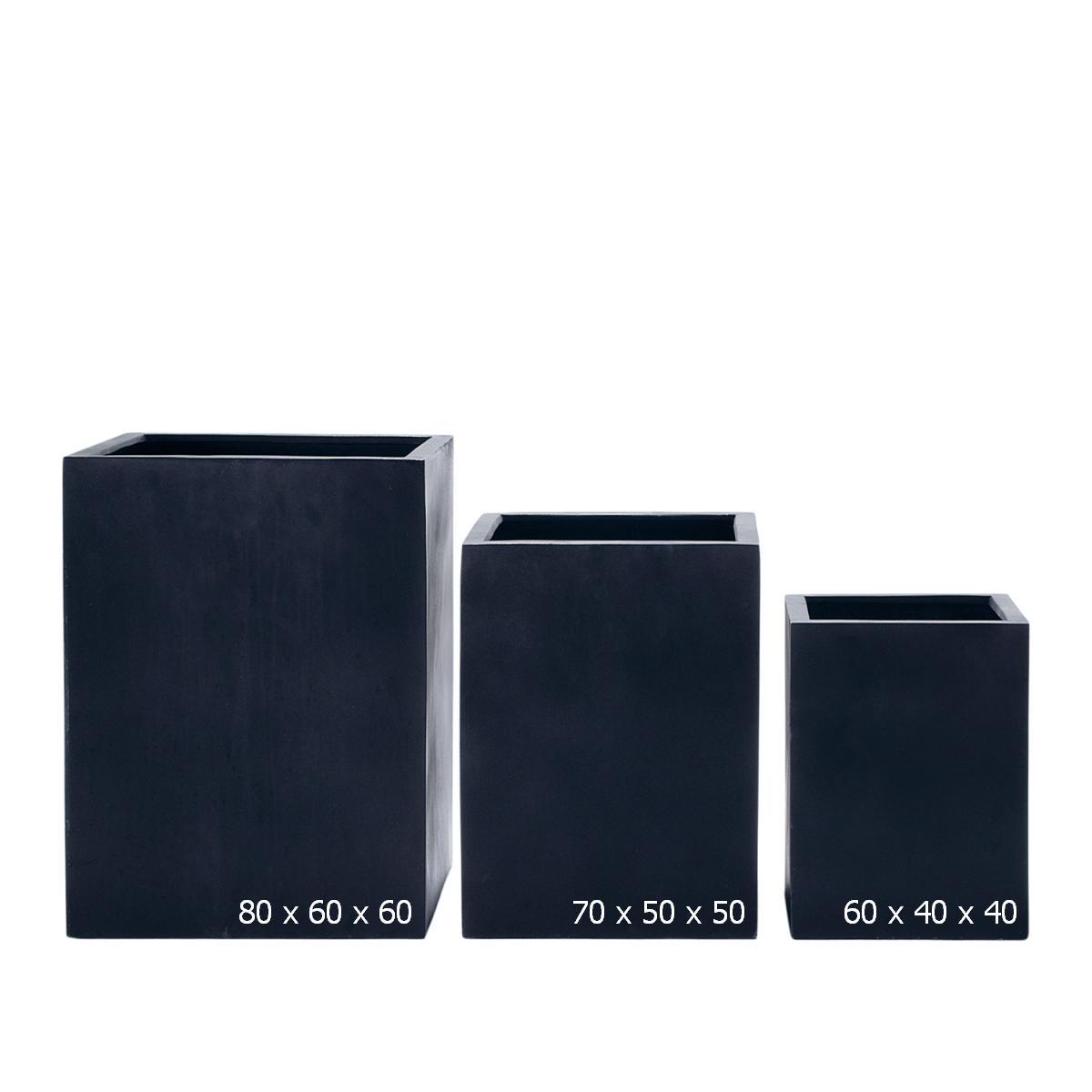 STONEFIBER der hohe Quadratische schwarz