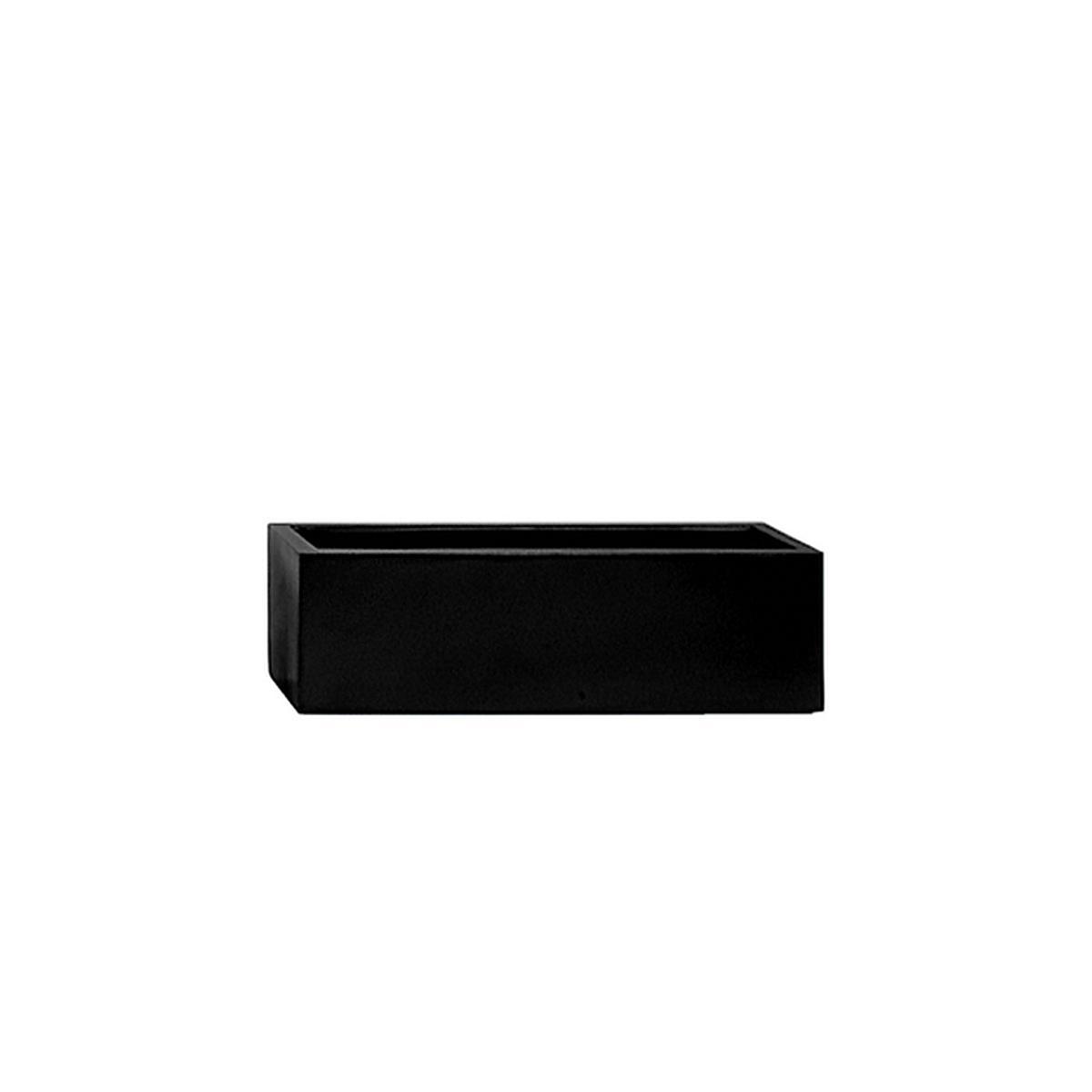 STONEFIBER der Lange Pflanzschale 60 cm schwarz