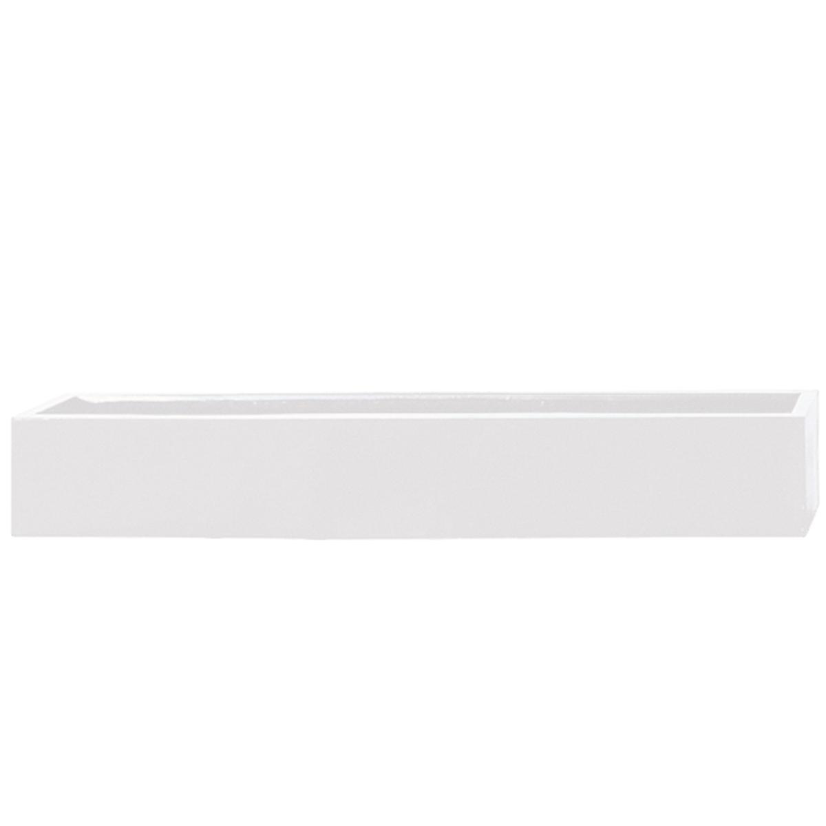 STONEFIBER der Lange Pflanzschale 100 cm weiß