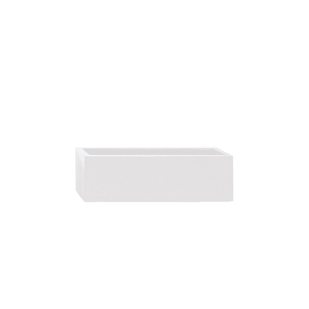 STONEFIBER der Lange Pflanzschale 60 cm weiß