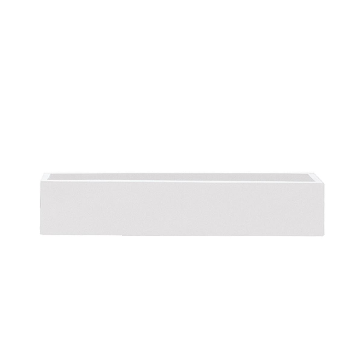STONEFIBER der Lange Pflanzschale 80 cm weiß