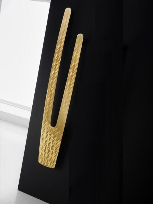 VU Design-Heizkörper, HxB:168x28.cm, gold gebürstet