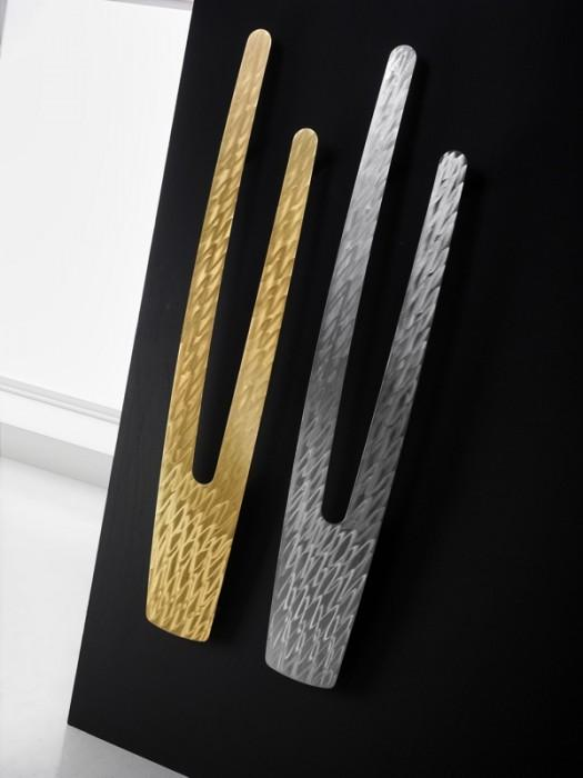 Antrax Design-Heizkörper VU gold und chrom