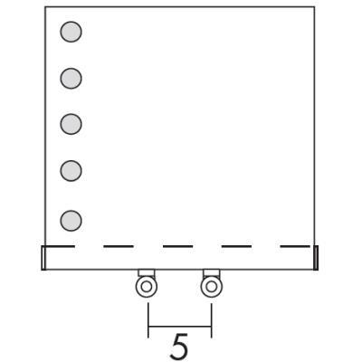 FLAT Sonderanschluss [5] unten mittig