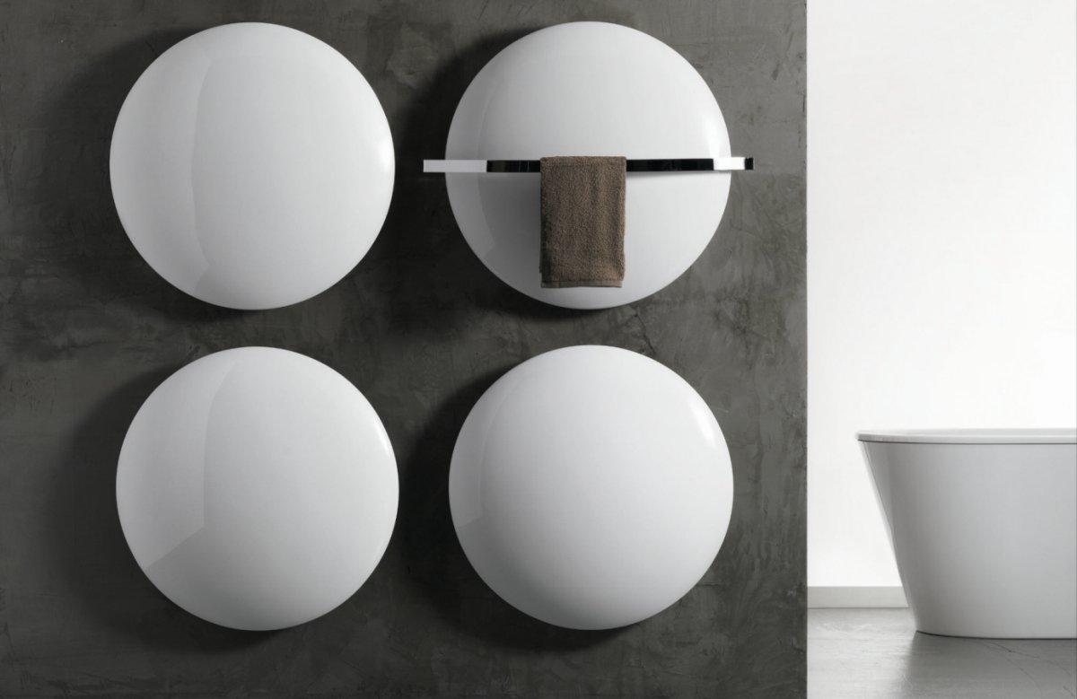 Antrax Design-Heizkörper MOON und Handtuchtrockner Saturn