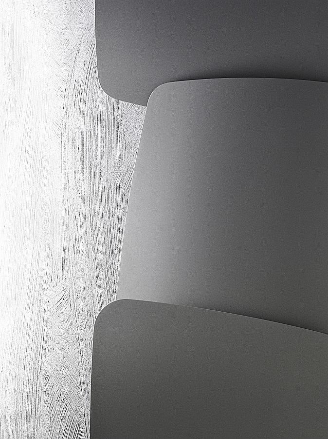 Antrax Design-Heizkörper SCUDI, Detail der Überlappung