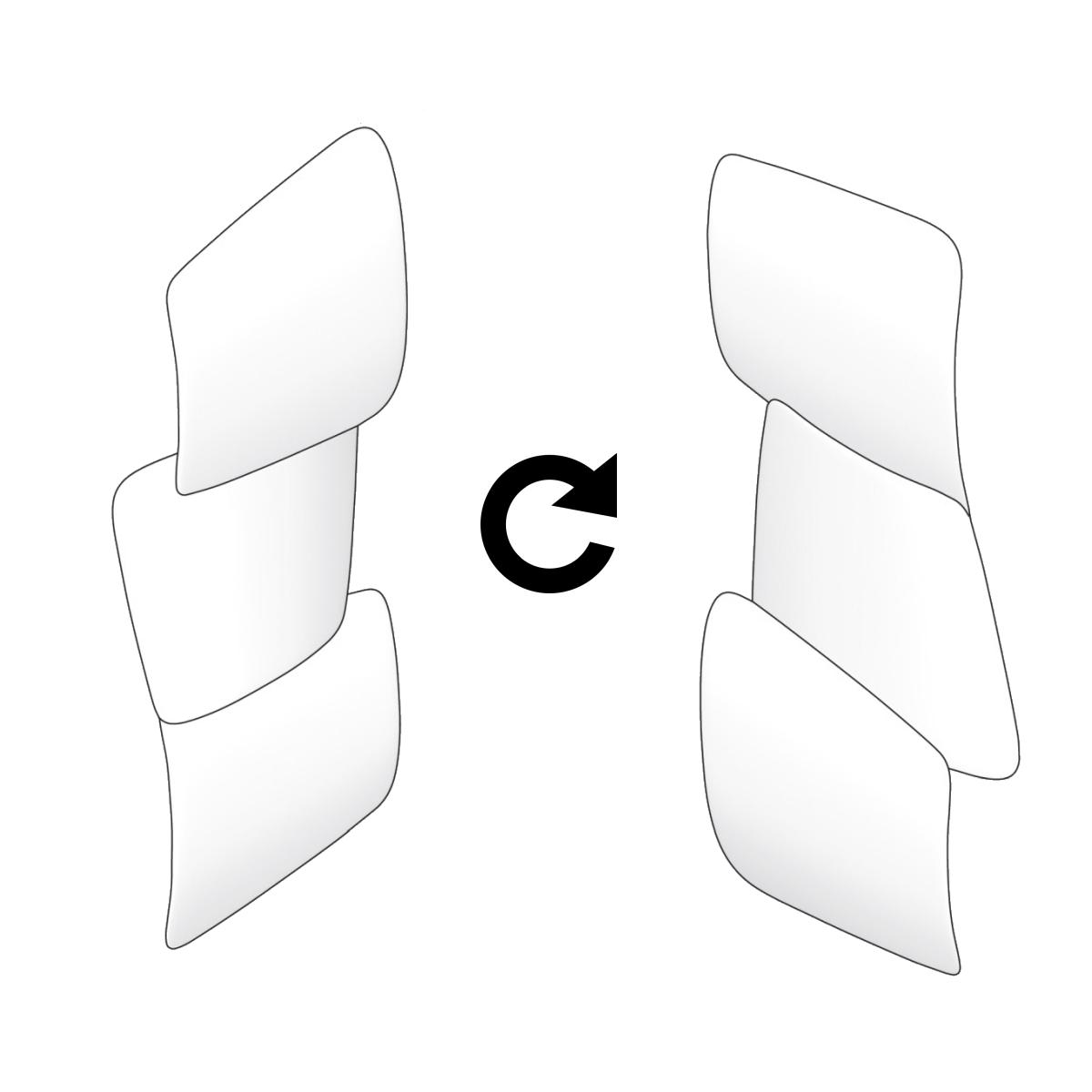 Antrax Design-Heizkörper SCUDI vertikal, kann vor Ort gedreht werden
