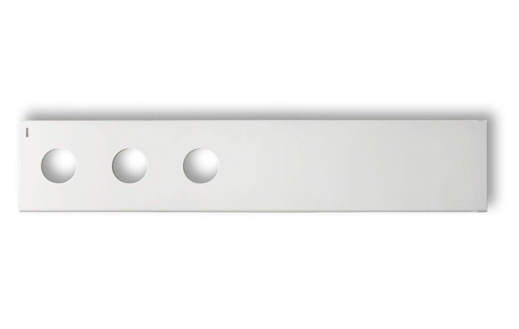 TREO O Design-Heizkörper, HxB:39.8x203.cm, weiß