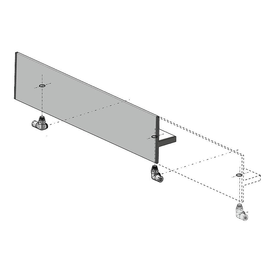 Antrax Design-Heizkörper SERIE T1P, Anfertigung auch Milimeter-genau