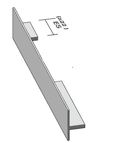 Antrax Design-Heizkörper SERIE T1P, Handtuchdurchlass links