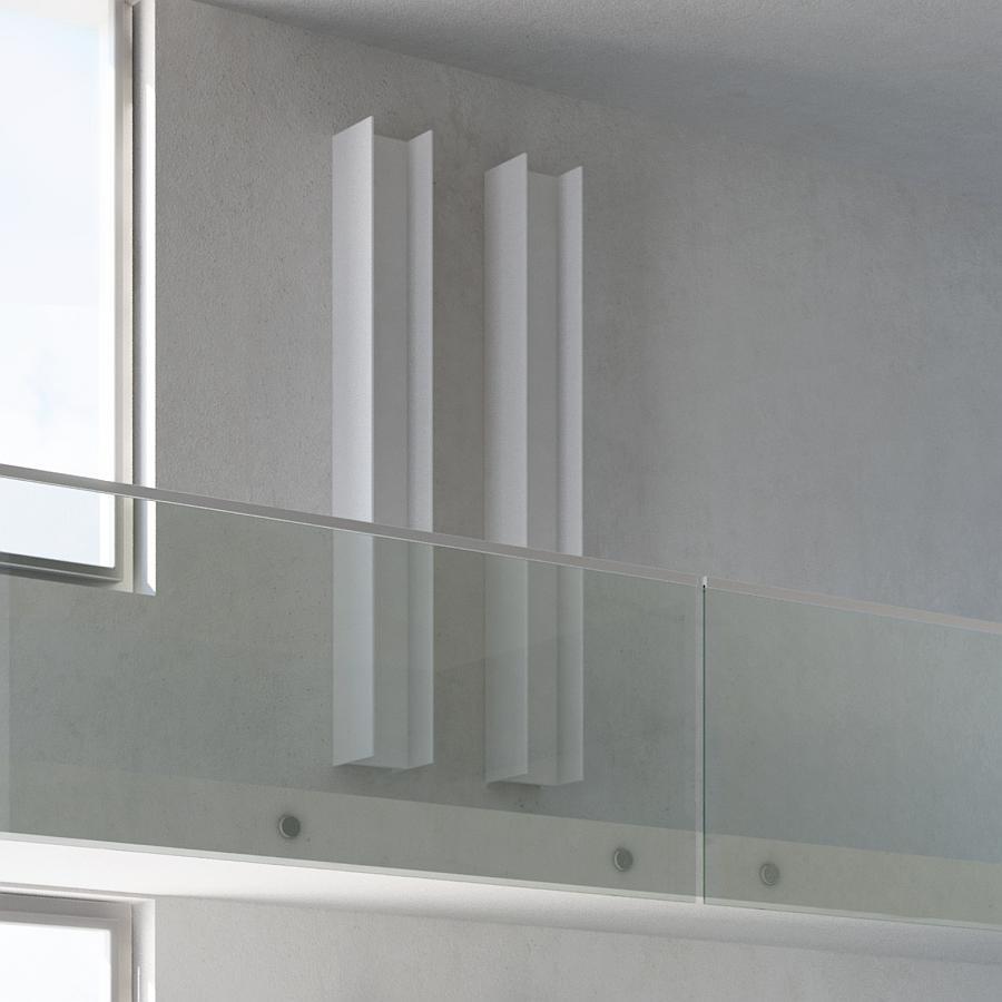 Serie T [T2V] Design-Heizkörper Warmwasser, HxB:150.6x23.cm, weiß