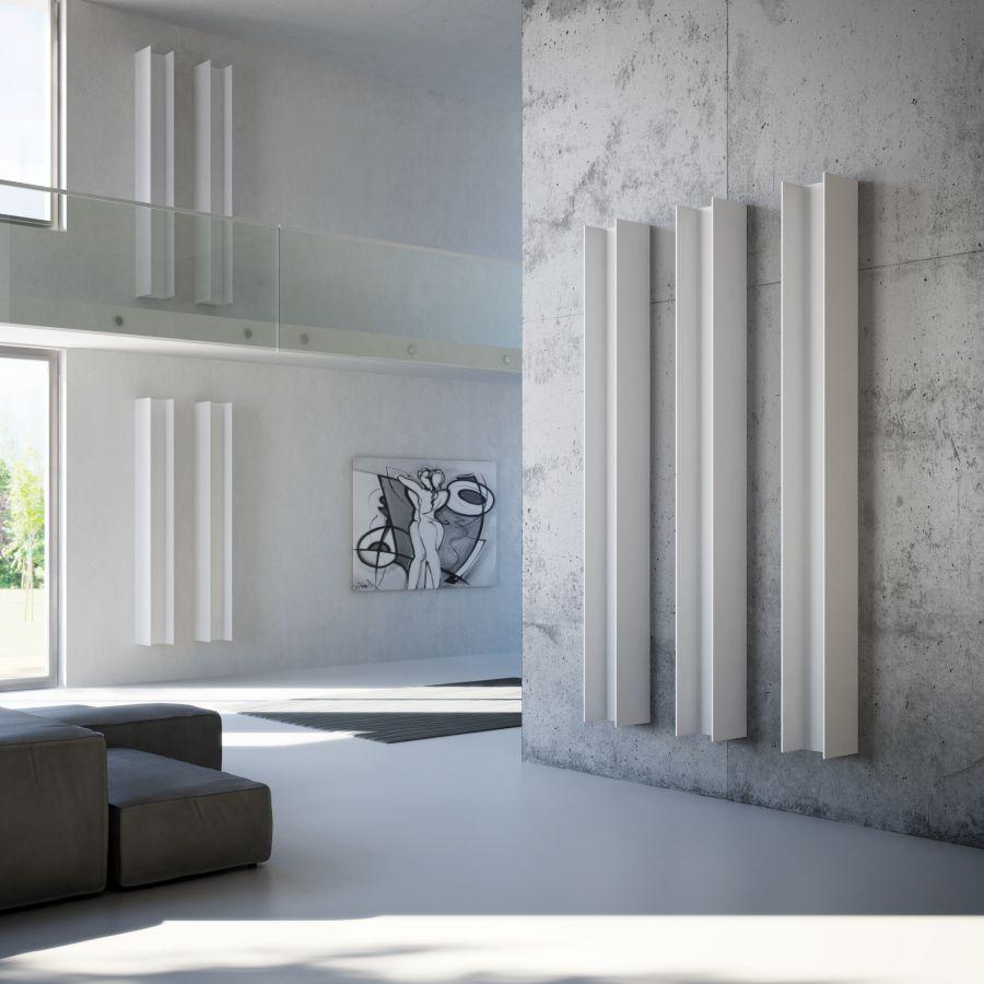 Antrax Design-Heizkörper SERIE T, der T2V vertikal, in weiß
