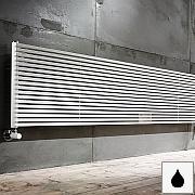 TRIM OS Design-Heizkörper horizontale Streben einreihig Warmwasser, Größe und Ausstattung nach Wahl