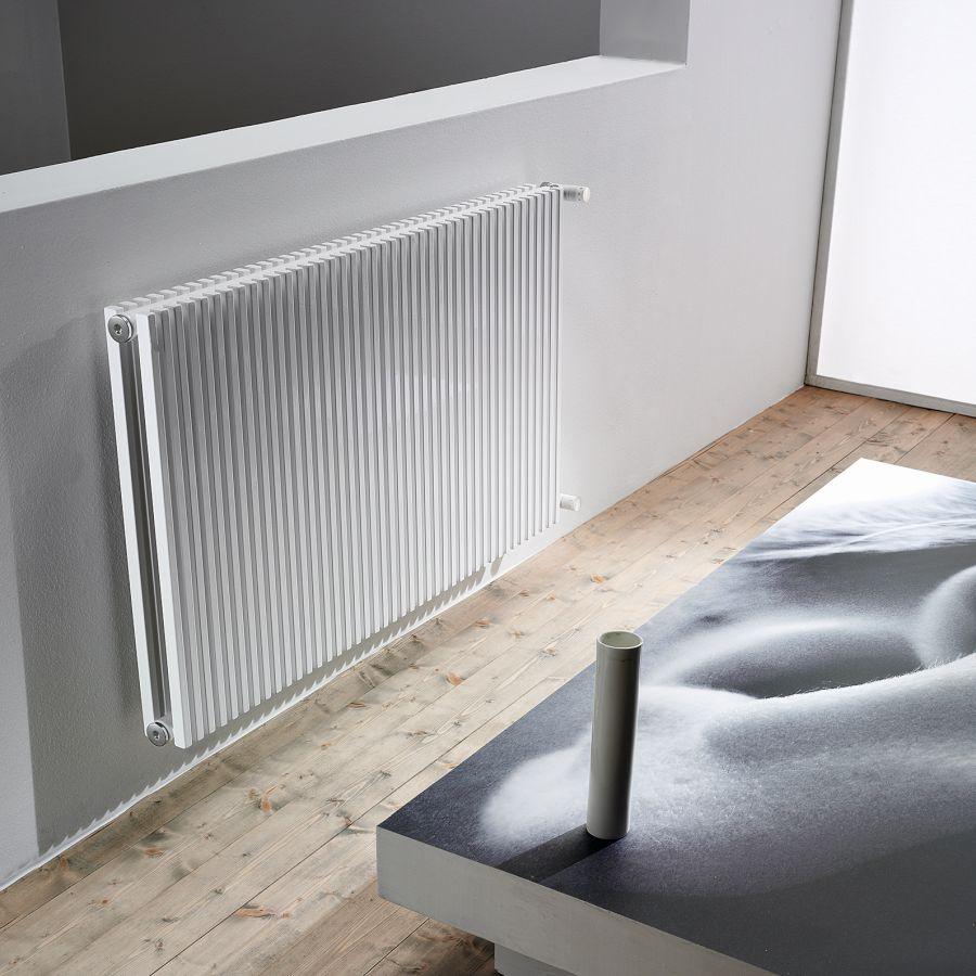 TRIM VD Design-Heizkörper vertikale Streben doppelreihig Warmwasser, Größe und Ausstattung nach Wahl