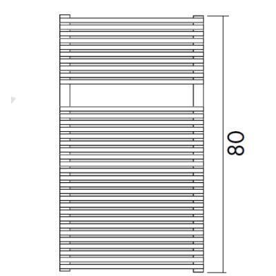 TRIM BATH Design-Heizkörper, HxB:116x50cm, weiß